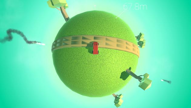Around the planet - Funny planetoid arcade racing screenshot 1