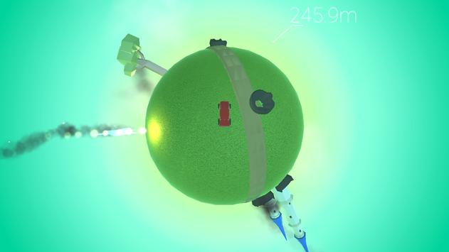 Around the planet - Funny planetoid arcade racing screenshot 2