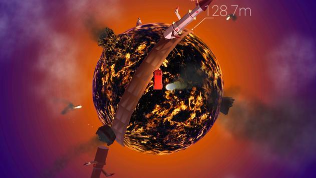 Around the planet - Funny planetoid arcade racing screenshot 4