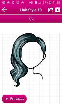 Learn To Draw Hairstyles screenshot 3