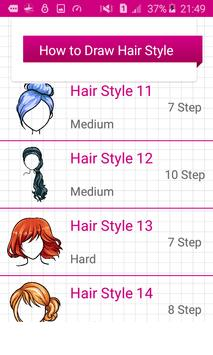 Learn To Draw Hairstyles screenshot 2