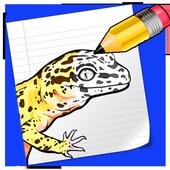 Draw Cute Leopard Gecko icon