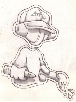 Dibujando personajes de Graffiti captura de pantalla 3