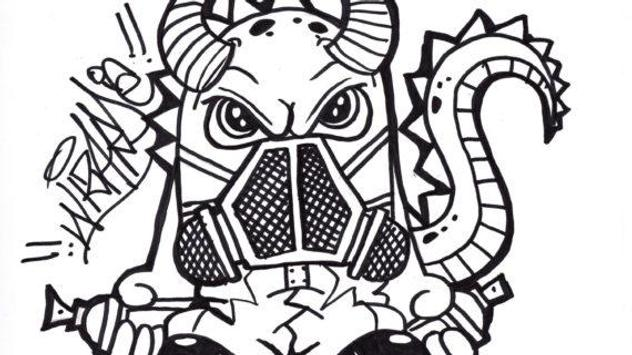 Drawing Graffiti Characters screenshot 22