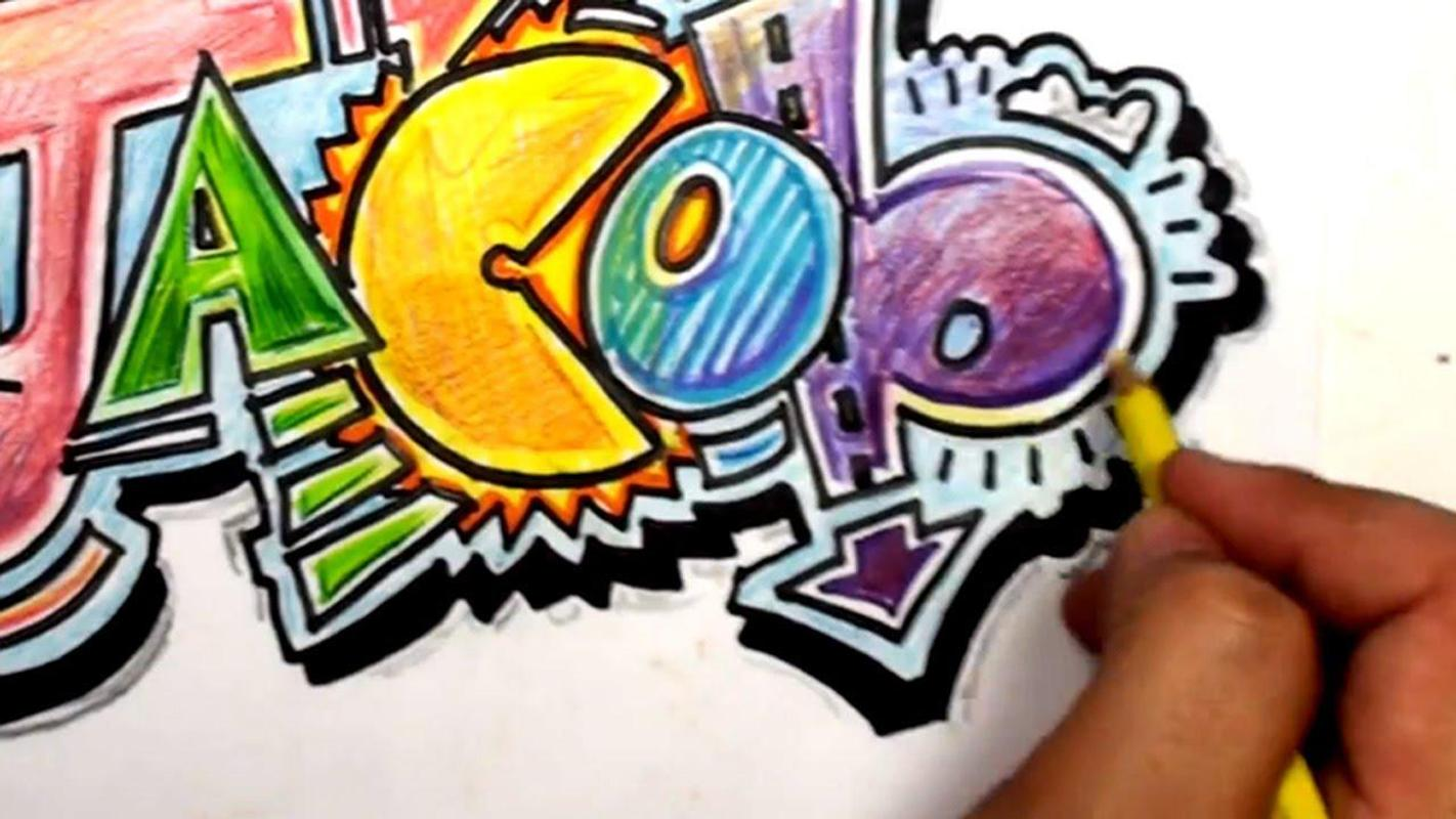 Drawing graffiti letters ideas screenshot 14