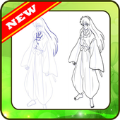 Drawing Inuyasha step by step icon