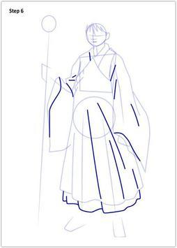 Drawing Inuyasha step by step screenshot 2