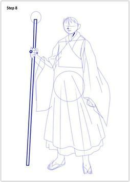 Drawing Inuyasha step by step screenshot 3