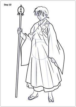 Drawing Inuyasha step by step screenshot 4