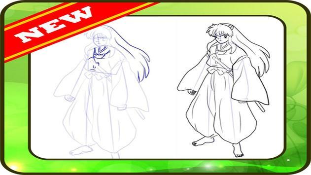Drawing Inuyasha step by step screenshot 5