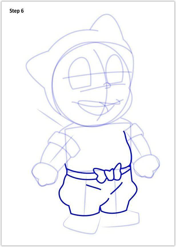 Drawing Ninja Hatori step by step poster