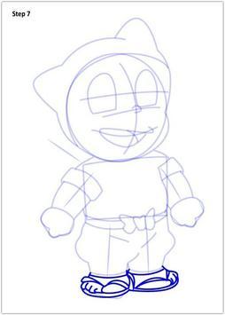 Drawing Ninja Hatori step by step apk screenshot