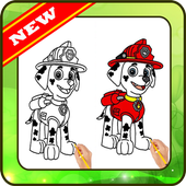 Drawing Paw Patrol step by step icon