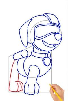 Drawing Paw Patrol step by step poster