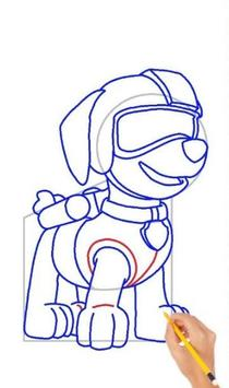 Drawing Paw Patrol step by step screenshot 1