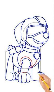 Drawing Paw Patrol step by step screenshot 1
