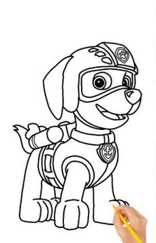 Drawing Paw Patrol step by step screenshot 3