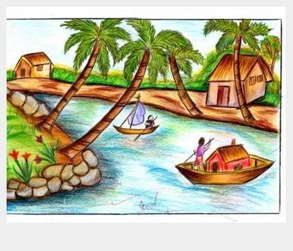 Drawing scenery apk screenshot