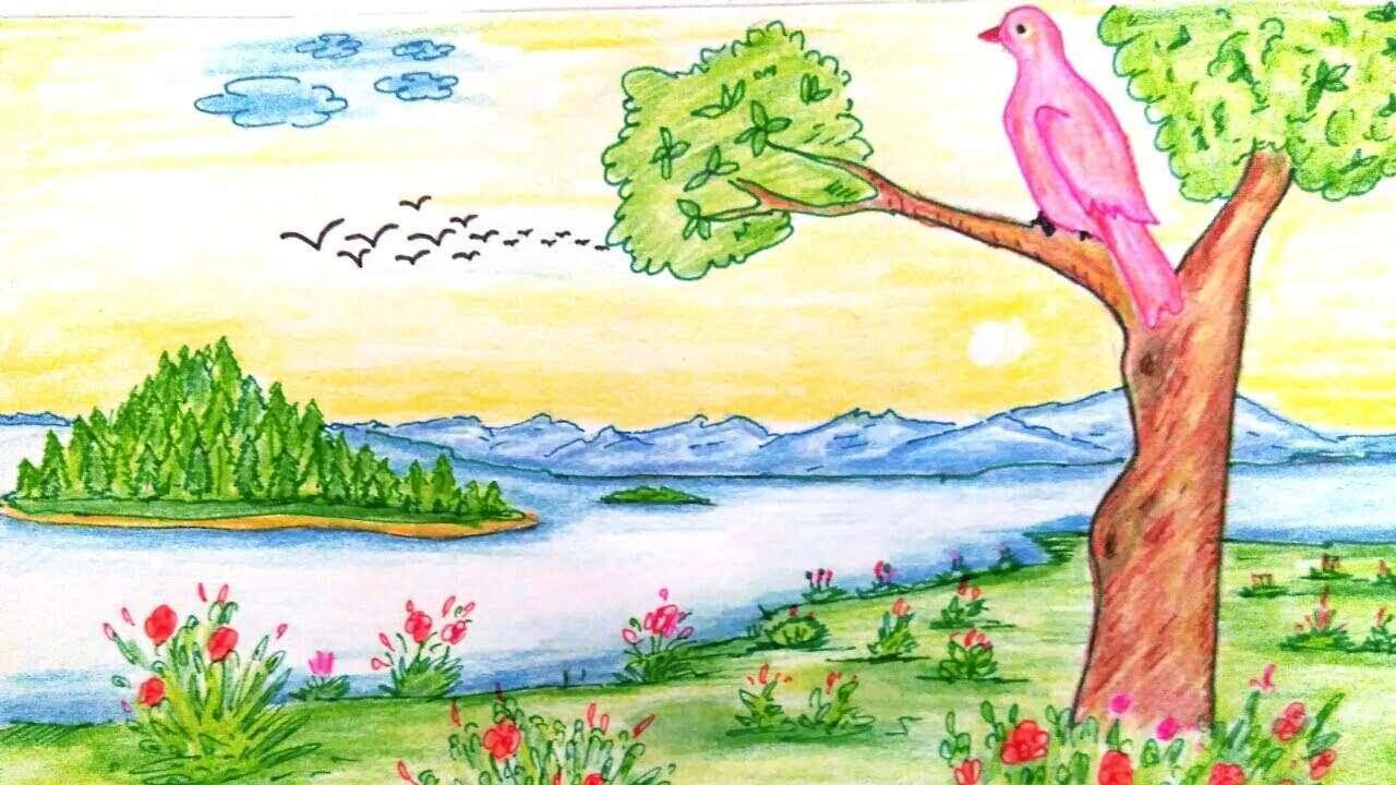 картинки где можно нарисовать природу