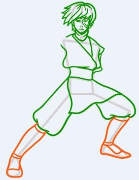 Drawing cartoons character easy apk screenshot