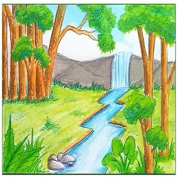 Drawing Scenery poster