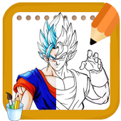 How to draw Amazing goku's all Forms from DBZ icon