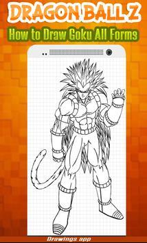 How to draw Amazing goku's all Forms from DBZ screenshot 4