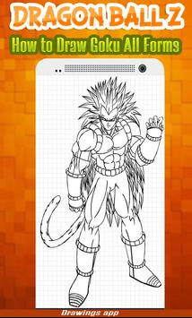 How to draw Amazing goku's all Forms from DBZ screenshot 9