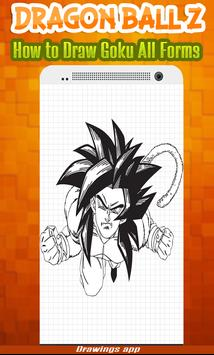 How to draw Amazing goku's all Forms from DBZ screenshot 1
