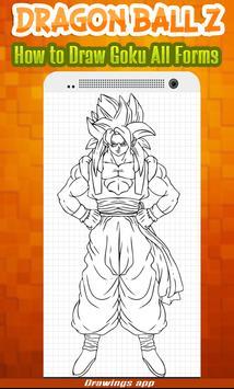 How to draw Amazing goku's all Forms from DBZ screenshot 2