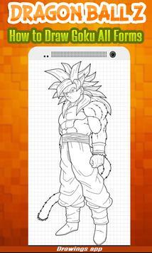 How to draw Amazing goku's all Forms from DBZ screenshot 3