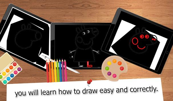 Drawing Lessons Pig Pepa poster