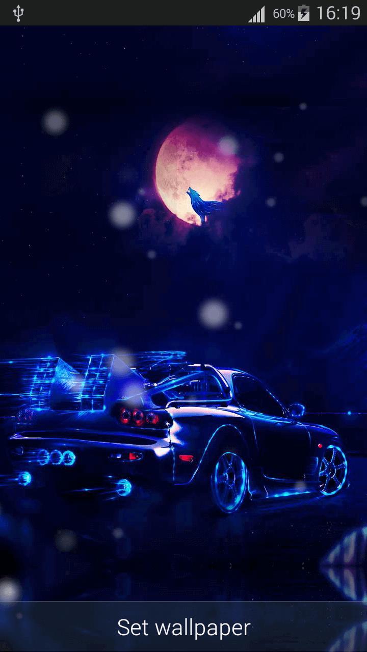 Neon Cars Live Wallpaper Hd Screenshot