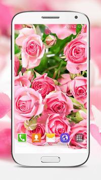 Pink Roses Live Wallpaper screenshot 1