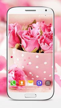 Pink Roses Live Wallpaper screenshot 5