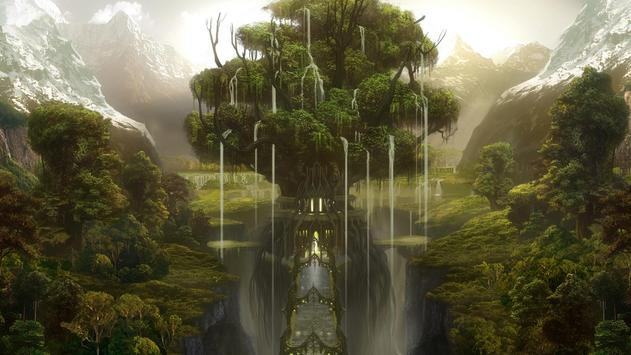 Fantasy Landscape Wallpaper poster