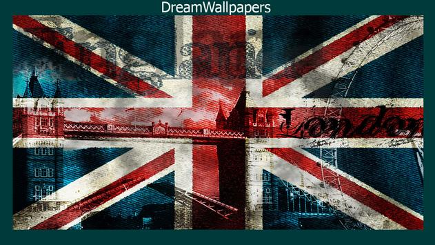 United Kingdom Flag Wallpaper poster