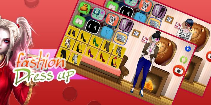 Dress Up Game For Harley Quinn apk screenshot