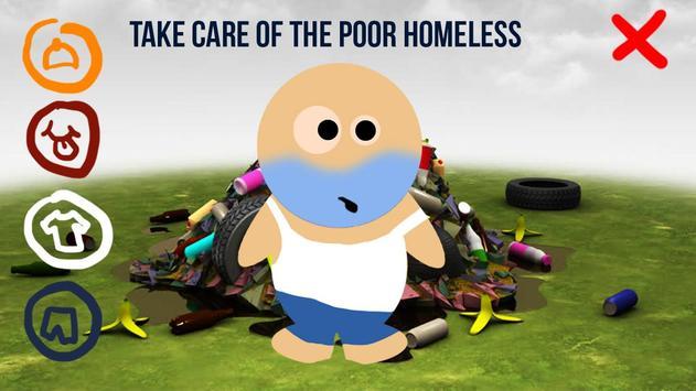 Dress Up Homeless 3D poster