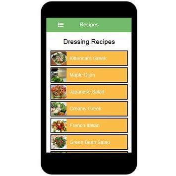 Dressing Recipes screenshot 1