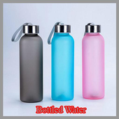 The idea of bottled water icon