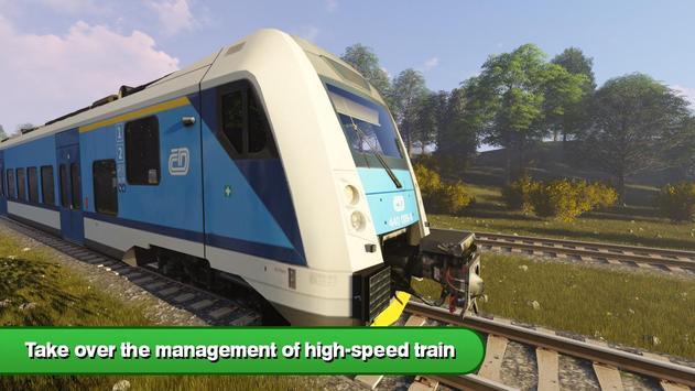 Driver in Train Simulator 3D poster