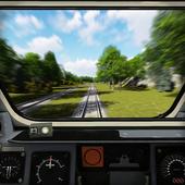 Driver inside Train Simulator icon