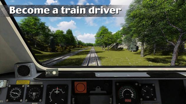 Driver inside Train Simulator poster