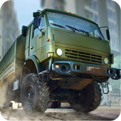 Driving in Kamaz Russian Army icon