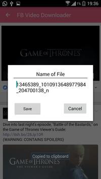 Downloader Video Fb For free apk screenshot
