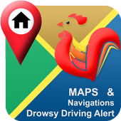 Drowsy Driving Alert Navigation - Golden Rooster icon