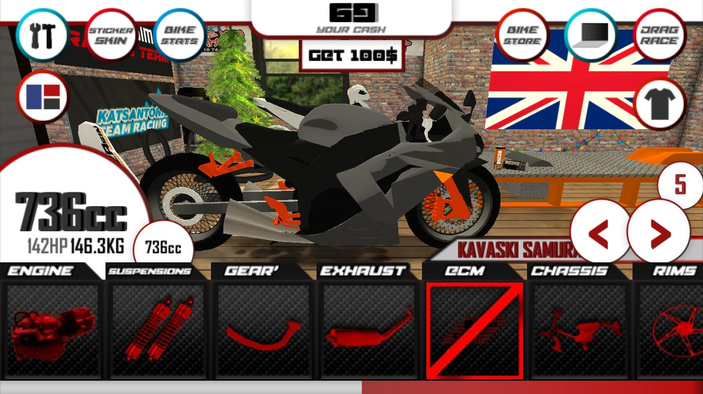 Motorcycle Drag Racing Game App - Bike Wallpaper