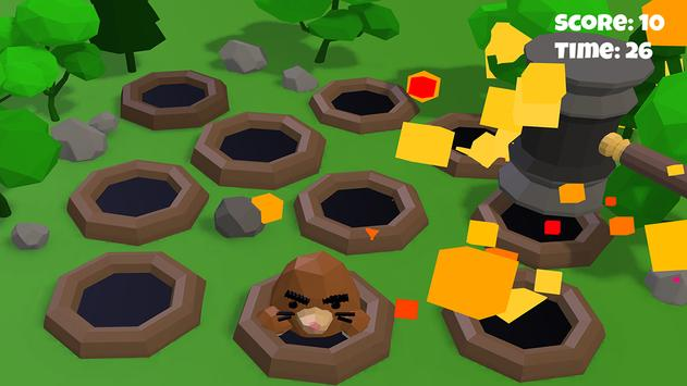 Hammer the hole with Mole 3D poster