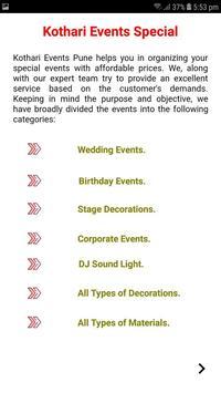 Kothari Events screenshot 3